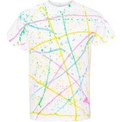Dyenomite - Splatter Tee (White/ Rainbow - 3XL), Men's found on Bargain Bro from Overstock for USD $25.63