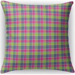 LOVE POTION 1 PLAID Accent Pillow by Kavka Designs (18X18), Pink(Polyester)
