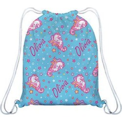 Monday's Child Girls' Backpacks - Light Blue Seacorn & Stars Personalized Backpack found on Bargain Bro India from zulily.com for $17.99