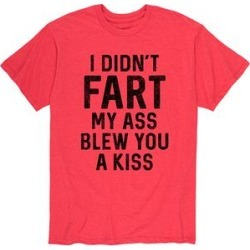 Instant Message Mens Men's Tee Shirts HEATHER - Heather Red 'I Didn't Fart' Tee - Men