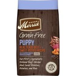 Merrick Grain Free Dry Puppy Food Real Beef & Sweet Potato Recipe, 4-lb bag