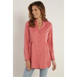 Women's Halsey Shirt by Soft Surroundings, in Dusty Cedar size XS (2-4)