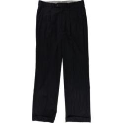 Ralph Lauren Mens Stripe Dress Pants Slacks, Blue, 32W x 29L - 32W x 29L found on Bargain Bro Philippines from Overstock for $156.04