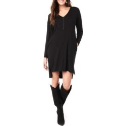 Farah V-neck Long Sleeve Maternity Dress - Black - Loyal Hana Dresses found on Bargain Bro India from lyst.com for $138.00
