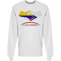 Handshake Logo Graphic Sweatshirt Men's -Image by Shutterstock (L), White(cotton) found on Bargain Bro Philippines from Overstock for $24.99