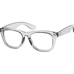 Zenni Square Prescription Glasses Gray Plastic Frame found on Bargain Bro India from Zenni Optical for $6.95