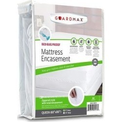Guardmax Zippered Bed Bug Mattress Protector Encasement (Queen), Blue found on Bargain Bro from Overstock for USD $34.19