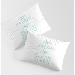 King Size Pillow Sham | So Fresh And So Clean Clean Aqua Rap Gangsta Rap Fun Funny Saying Lettering by Splendid Idea Designs - STANDARD SET OF 2 - Cotton - Society6 found on Bargain Bro from Society6 for USD $30.39
