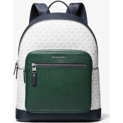 Hudson Color-block Logo And Leather Backpack - Blue - Michael Kors Backpacks found on MODAPINS from lyst.com for USD $199.00