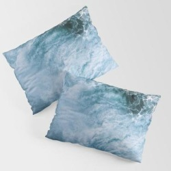 King Size Pillow Sham | Wave In Ireland During Sunset - Oceanscape by Michael Schauer - STANDARD SET OF 2 - Cotton - Society6 found on Bargain Bro from Society6 for USD $30.39