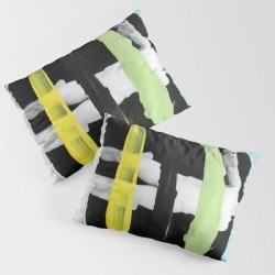 Pillow Sham | Untitled (finger Paint 8) by Chad Wys - STANDARD SET OF 2 - Cotton - Society6 found on Bargain Bro from Society6 for USD $30.39