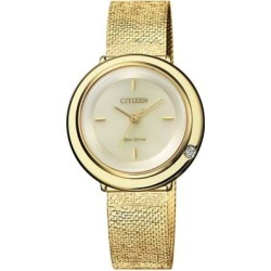 Diamond Champagne Dial Ladies Watch -87p - Metallic - Citizen Watches found on Bargain Bro from lyst.com for USD $134.52