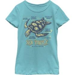 Fifth Sun Girls' Tee Shirts TAHI - Tahiti Blue Sea Turtle Tee - Girls