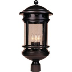 Designers Fountain Sedona 23 Inch Tall 3 Light Outdoor Post Lamp - 2396-ORB found on Bargain Bro from Capitol Lighting for USD $149.72