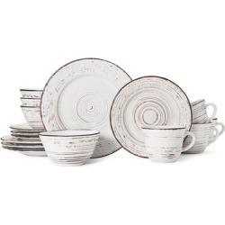 Pfaltzgraff Trellis White Stoneware 16-piece Dinnerware Set (As Is Item)