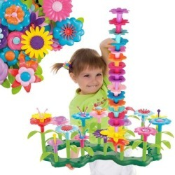 ToyVelt Flower Garden Building Toys for Girls - (148 pcs) Floral Arrangement playset Stem Toy - Multi - N/A
