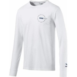 Puma Mens T-Shirt Classic Bright White Size Medium M Graphic Logo Tee found on Bargain Bro from Overstock for USD $25.06