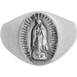 Saint Engraved Sterling Silver Signet Ring - Metallic - AllSaints Rings found on Bargain Bro India from lyst.com for $92.00