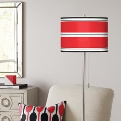 Giclee Red Stripes Brushed Nickel Pull Chain Floor Lamp found on Bargain Bro from LAMPS PLUS for USD $136.79