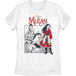 Fifth Sun Women's Tee Shirts WHITE - Mulan White Comic Panels Crewneck Tee - Women & Plus found on Bargain Bro India from zulily.com for $18.97