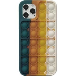 Aheadife Cellular Phone Cases Multicolor - Orange & White Stripe Bubble Sensory Silicone Case for iPhone found on Bargain Bro from zulily.com for USD $7.59