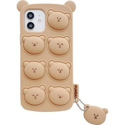 Shou Cellular Phone Cases Brown - Brown Bear Poppable Button Smartphone Case found on Bargain Bro from zulily.com for USD $7.59