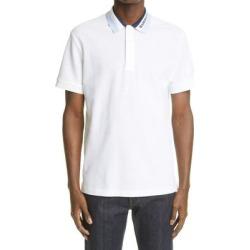 Men's Edney Logo Collar Short Sleeve Piqué Polo - White - Burberry T-Shirts found on Bargain Bro from lyst.com for USD $349.60
