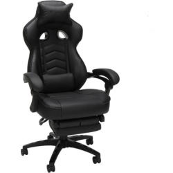 RESPAWN 110 Racing Style Gaming Chair in Reclining Ergonomic Chair with Footrest in Black - OFM RSP-110-BLK found on Bargain Bro Philippines from totally furniture for $185.97