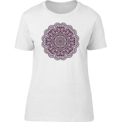 Purple And White Floral Mandala Tee Women's -Image by Shutterstock (L)(cotton, Graphic) found on Bargain Bro Philippines from Overstock for $13.29