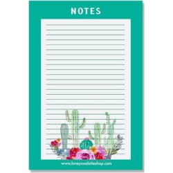 Love you a Latte Shop Notepads and Notebooks - Teal Watercolor Cacti Notepad found on Bargain Bro from zulily.com for USD $9.87