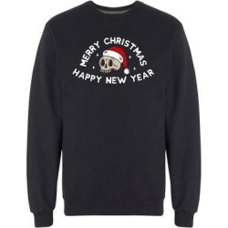 Holiday Santa Skull Sweatshirt Men's -Image by Shutterstock found on MODAPINS from Overstock for USD $24.99