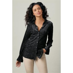 Women's Isola Shirt by Soft Surroundings, in Black size XS (2-4)