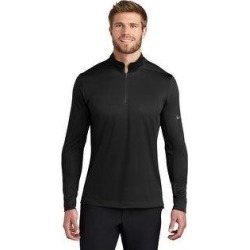 Nike Men's Dry 1/2 Zip Warm Up (Black - Large)(polyester, Solid) found on Bargain Bro from Overstock for USD $48.63