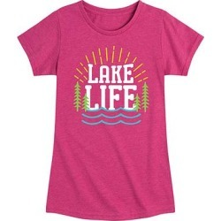 Instant Message Girls' Tee Shirts HEATHER - Heather Fuchsia 'Lake Life' Short-Sleeve Tee - Toddler & Girls found on Bargain Bro from zulily.com for USD $9.11