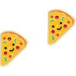 GIRL NATION Girls' Earrings N/A - Pizza Pizzazz Cutie Enamel Stud Earrings found on Bargain Bro India from zulily.com for $9.99