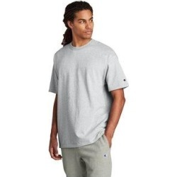 Champion Men's Cotton Jersey Tee (Ash - M), Grey found on Bargain Bro Philippines from Overstock for $20.09