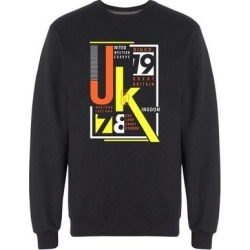 United Kingdom Typography Art Sweatshirt Men's -Image by Shutterstock (L), Black(cotton) found on Bargain Bro Philippines from Overstock for $24.99