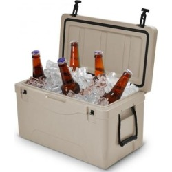 Costway 64 Quart Heavy Duty Outdoor Insulated Fishing Hunting Ice Chest -Gray found on Bargain Bro from Costway for USD $136.76