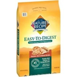 Nature's Recipe Easy-To-Digest Chicken, Rice & Barley Recipe Dry Dog Food, 24-lb bag