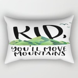 Rectangular Pillow | Kid You'll Move Mountains, Kids Poster, Gift For Kid, Home Decor, Kids Room by Vanja Cvetkovic - Small (17
