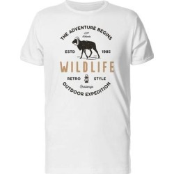 The Adventure Begins, Expedition Tee Men's -Image by Shutterstock (M), White found on Bargain Bro from Overstock for USD $10.63