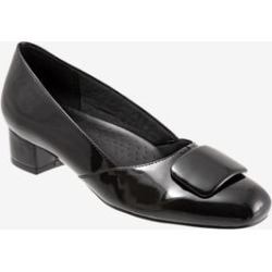 Extra Wide Width Women's Delse Pump by Trotters in Black Patent (Size 7 1/2 WW) found on Bargain Bro India from Woman Within for $104.99