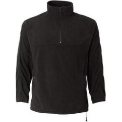Microfleece Unisex Quarter-Zip Pullover (S - Onyx Black), Men's, Black Black(nylon) found on Bargain Bro Philippines from Overstock for $45.80