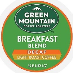 24 Ct Green Mountain Coffee Breakfast Blend Decaf Coffee K-Cup® Pods. Coffee found on Bargain Bro from Keurig.com for USD $11.39
