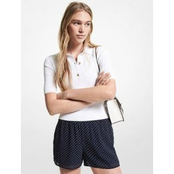 Michael Kors Ribbed Stretch Viscose Polo Sweater White M found on MODAPINS from Michael Kors for USD $116.25