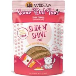 Weruva Slide N' Serve Name 'Dat Tuna Tuna Dinner Pate Grain-Free Cat Food Pouches, 2.8-oz pouch, case of 12