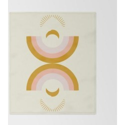 Bed Throw Blanket   Moon Rainbow by Grace - 51