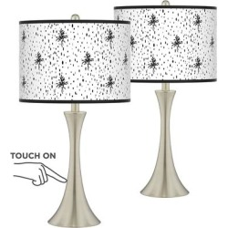Isabelle Trish Brushed Nickel Touch Table Lamps Set of 2 found on Bargain Bro Philippines from LAMPS PLUS for $149.99