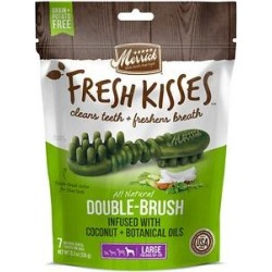 Merrick Fresh Kisses Infused with Coconut Oil & Botanicals Large Dental Dog Treats, 7 count