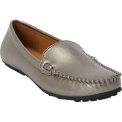 Extra Wide Width Women's The Milena Moccasin by Comfortview in Gunmetal (Size 9 1/2 WW) found on Bargain Bro Philippines from Ellos for $39.99